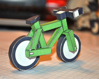 paperbikes v1.1  - XC MTB mountain paper bike - papercraft bicycle model kit