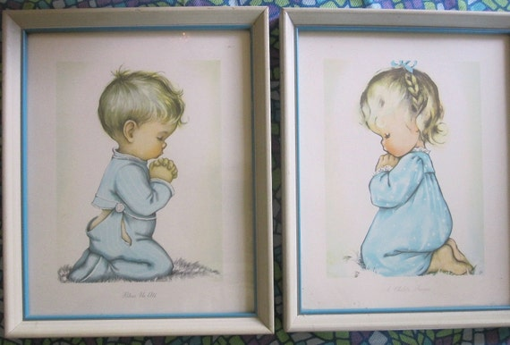 Vintage Framed Prints By Charlot Byj A Child S Prayer