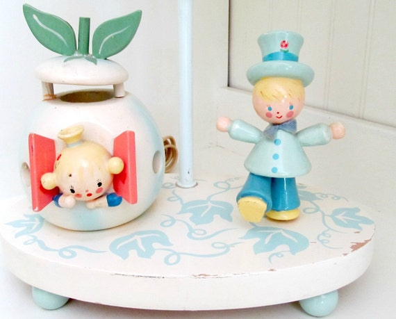 RESERVED FOR TIPPYHOUSE  Vintage Irmi Baby Nursery Lamp