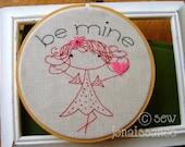 Embroidery PDF Pattern Valentine Clementine Be Mine