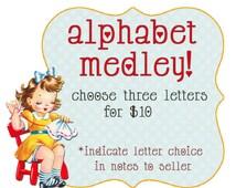 Embroidery PDF Pattern Alphabet Choose Three Bonus Buy