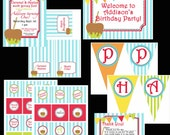 PRINTABLE Fall Caramel Apple Birthday Party Collection-DIY printable party invitations by Luv Bug Design