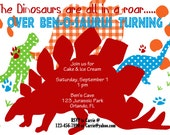 Dinosaur Invitation printable birthday party invite by Luv Bug Design