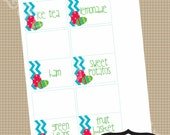 Easter Food Tent Style Labels printable parties by Luv Bug Design