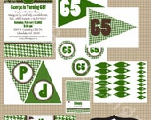 PRINTABLE Classic Houndstooth Golf Collection-DIY printable party invitations by Luv Bug Design