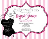 Corset Bachelorette Lingerie Party Invitation printable party invite by Luv Bug Design