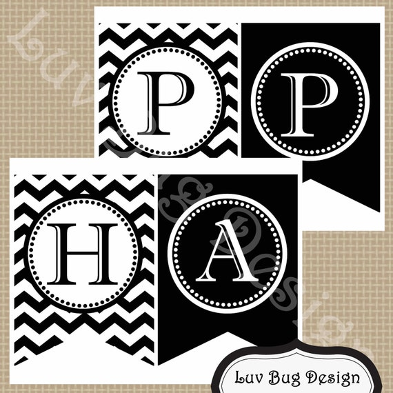 INSTANT DOWNLOAD Printable Black And White Chevron By