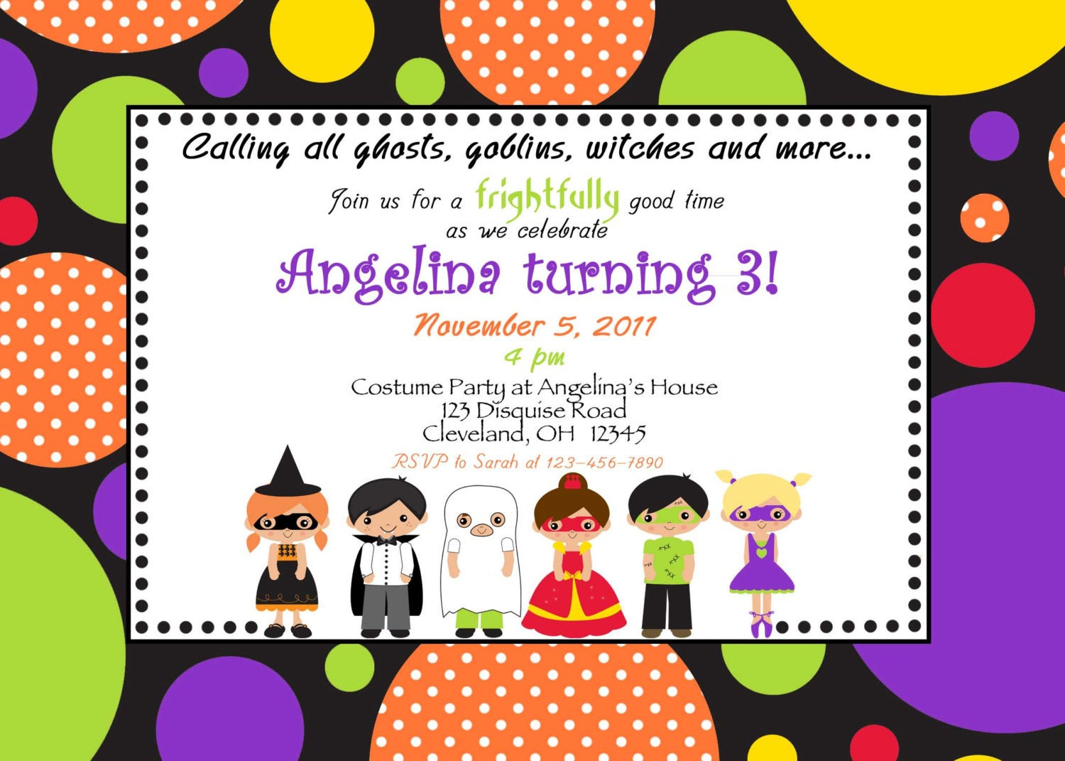 Halloween Costume Invitation Wording – Custom Party Invitation