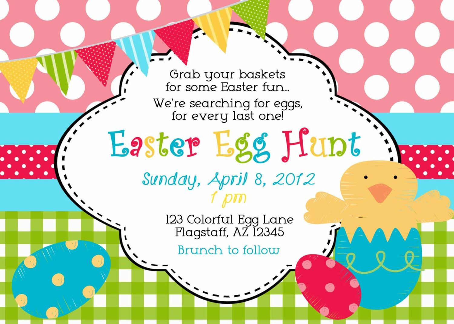 Terrible image intended for easter egg hunt invitations free printable