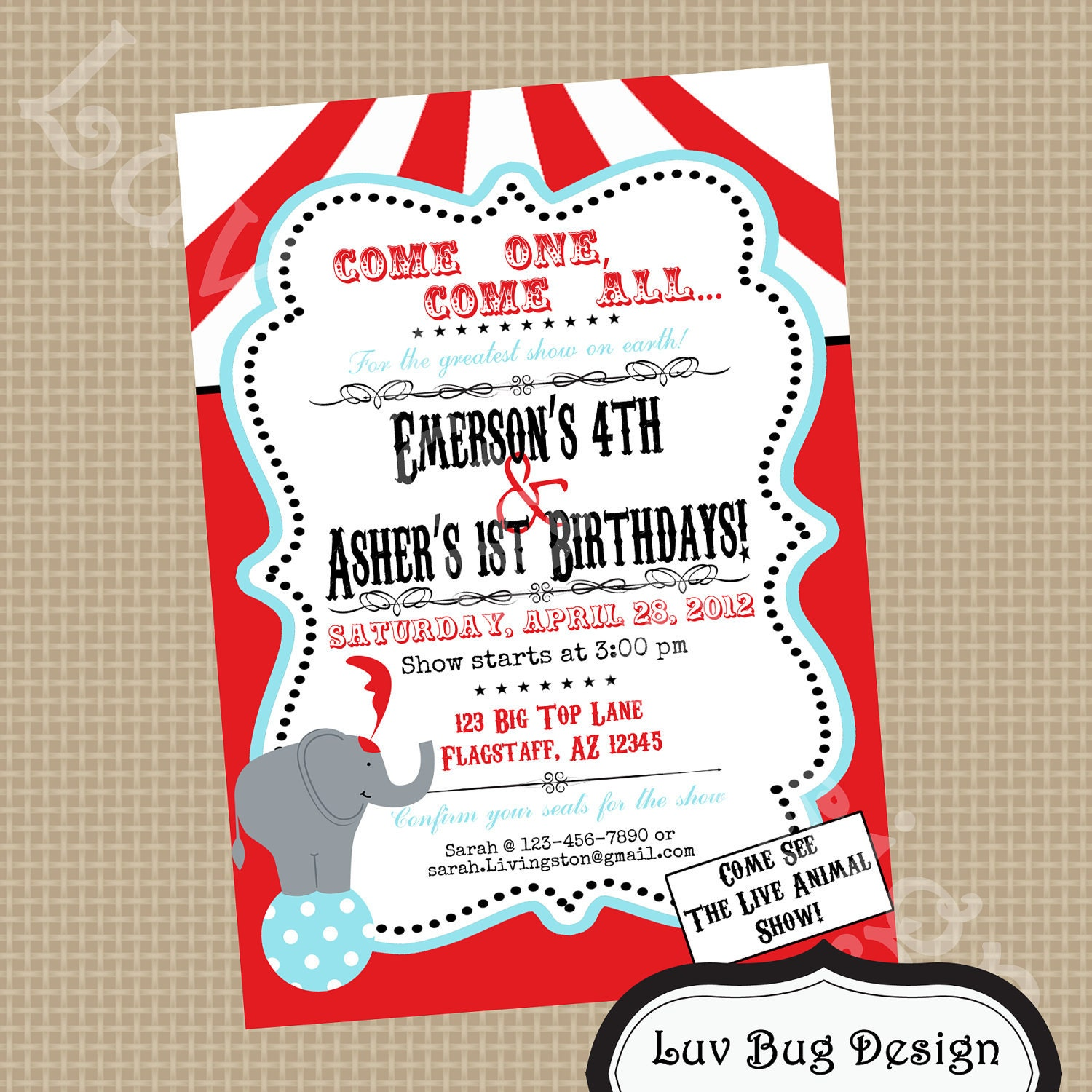 Carnival Birthday Party Invitations for your inspiration to make invitation template look beautiful