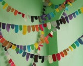 color tabs felt garland
