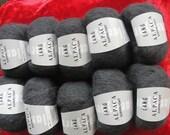 YARN, ALPACA  balls color  anthracite ,dark grey