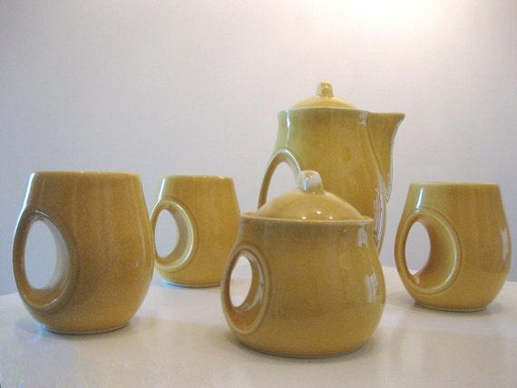Sale Retro Art Deco Japanese Tea Set Very Unique By