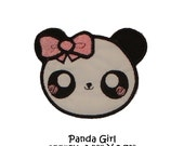 Applique Machine Embroidery Kawaii Panda Girl version