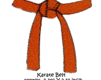 Machine Embroidery Karate Belt, single image martial arts
