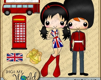 England tween girl, Britian, Royal Guard, British, Double decker bus Clipart and graphics