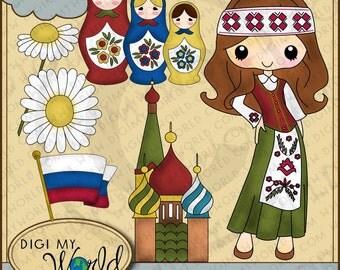 Russia Russian Traditional Tween Tweenager teenager girl  Clipart and graphics