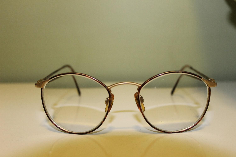 Tortoise Giorgio Armani Vintage Round Glasses Eyewear Optical
