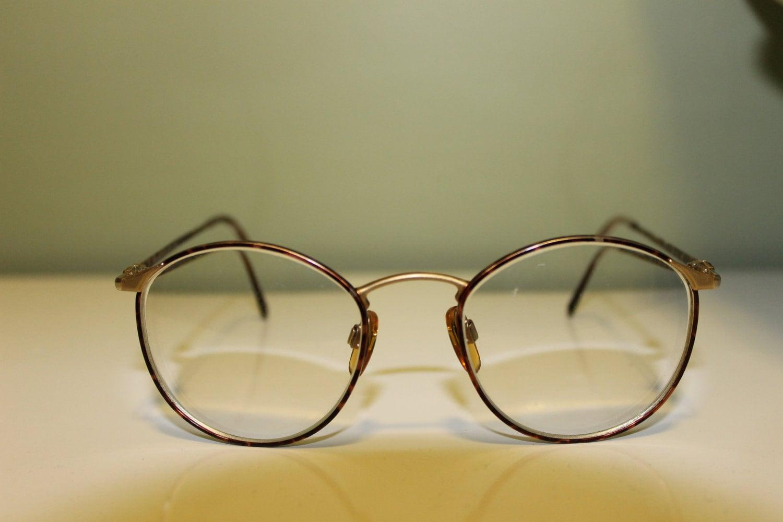 Vintage Armani Glasses Frames : Tortoise Giorgio Armani Vintage Round Glasses Eyewear Optical