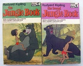 Rudyard Kipling Jungle Books with Disney covers, 1960s - paperback, first and second books