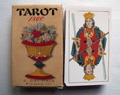 78 tarot fortune telling cards - 1990 reproduction of 1860 deck by J Gaudais