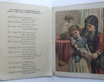 The Lord's Prayer for Little Children. With Beautiful Full-Color Chromolithographs. ca. 1851.