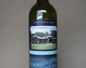 Home Sweet Home - Peel-and-Stick WINE BOTTLE LABEL - Printed & Shipped