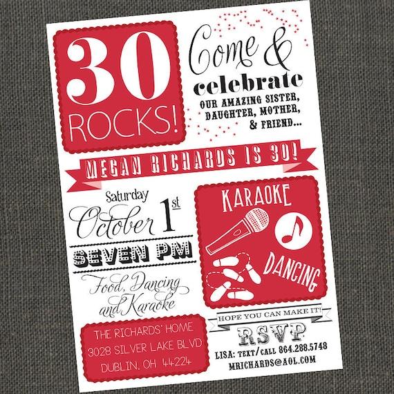 Items Similar To 30 40 50 Rocks Birthday Party