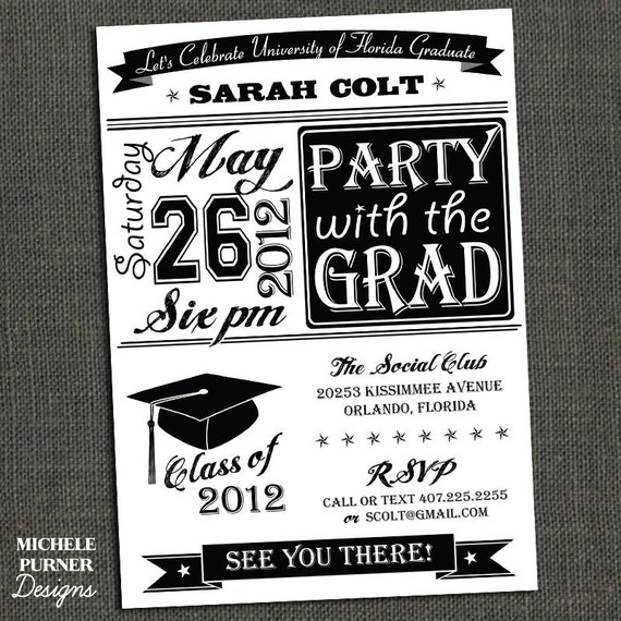 items similar to high school or college graduation party