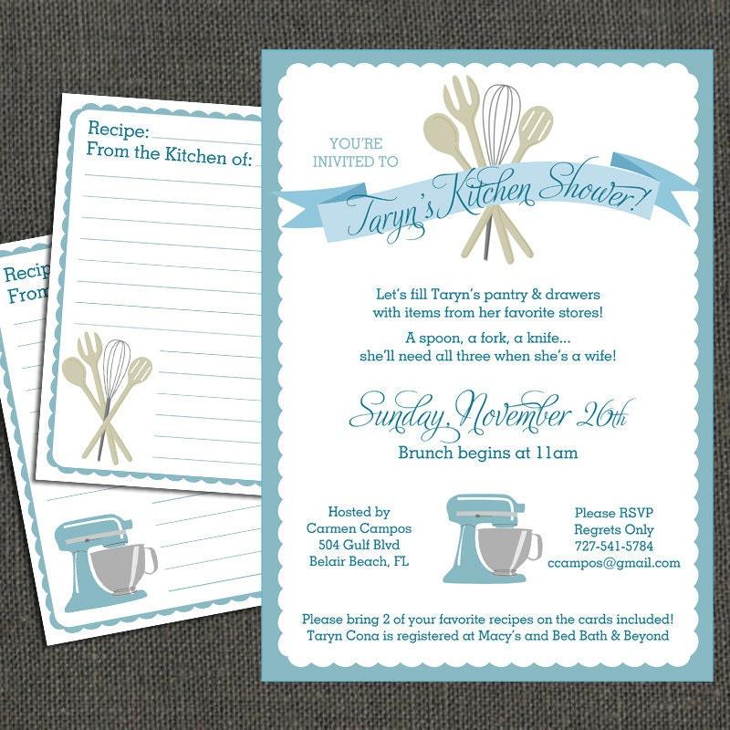 Bridal KITCHEN SHOWER Invitation And By Michelepurnerdesigns