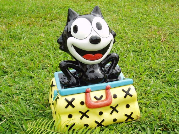 Felix the Cat Collectable Cookie Jar Vintage