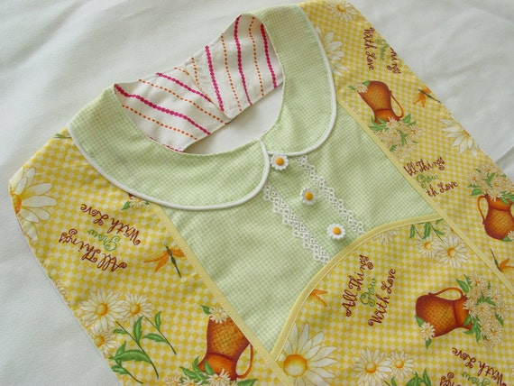 Grow with Love - Designer Apron Style Adult Bib - for Special Occasions and Everyday Use