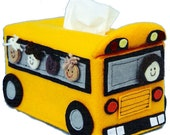 The Original Sneezes School Bus Sewing Pattern Tissue Box Cover