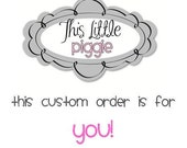 Personalized Piggy Bank Custom Order-Lacy