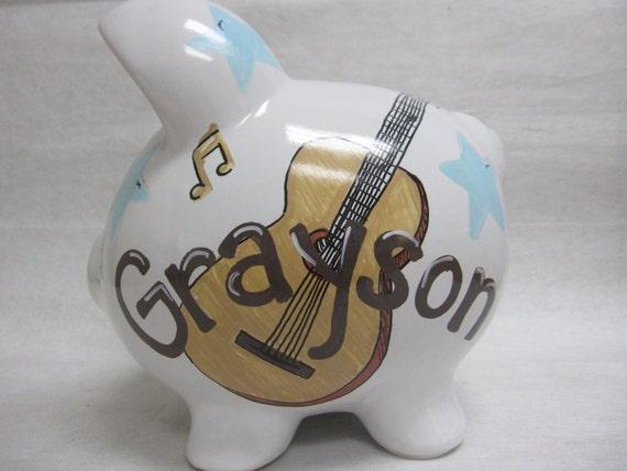 Personalized Piggy Bank Guitar Hero