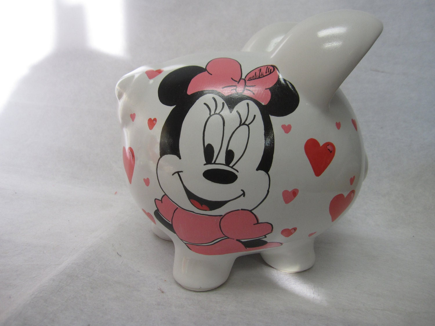 personalized piggy bank minnie mouse