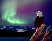 Alaskan Night  Fine Art Digital Photo 8x10