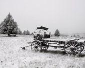 Rustic Buggy in Snow  1  Fine Art Digital Photo 8x10