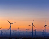 Electricity Generating Windmills - California  2772  Fine Art Digital Photo For Home & Office 8 x 10