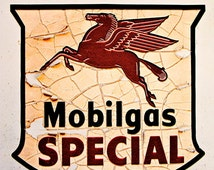 Route 66 Mobilgas Special Sign 2  2620  Affordable Fine Art Digital Photo for Home and Office 8x10