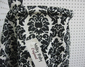 Breastfeeding nursing cover like hooter hider  BLACK  AND WHITE damask or  many fabric to pick from Milky baby original-sale