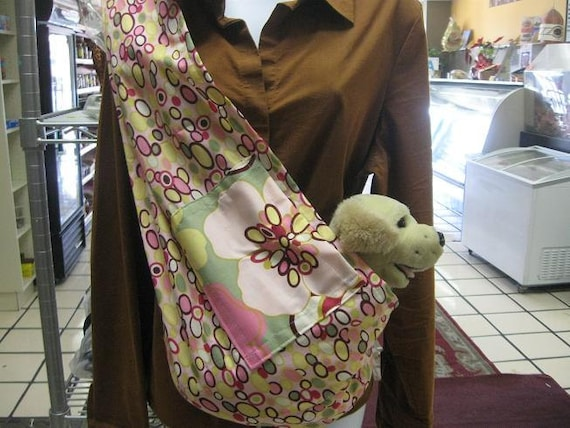 pet sling dog cat bunny carrier -for any small pet ships fast pick size xxs-5xl