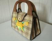 Vintage Tartan Pattern Handbag