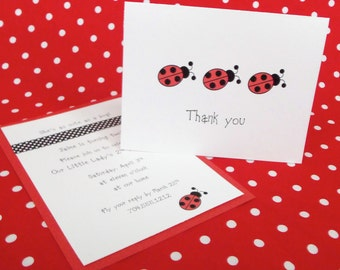 Lady Bug Thank you Note