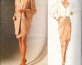 Vogue 2512 DONNA KARAN American Designer Jacket Top Skirt  Pattern Sizes 8 to 12