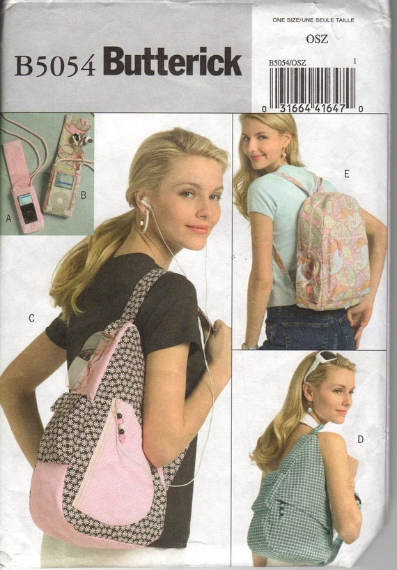 5054 Butterick Backpack and MP3 Player Cover