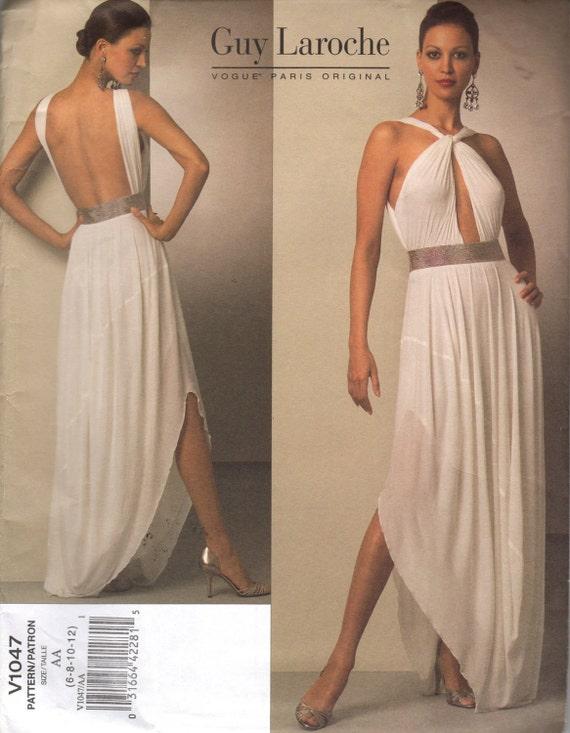 Uncut Vogue Paris Designer V1047 Guy Laroche Gown Dress Sizes 6 to 12