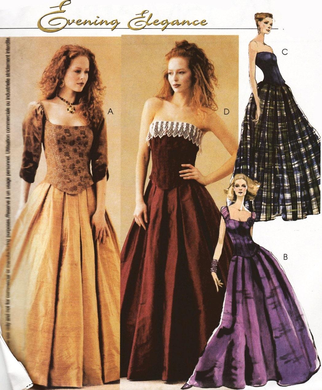 mccalls 3315 elegant evening top skirt sizes 1216