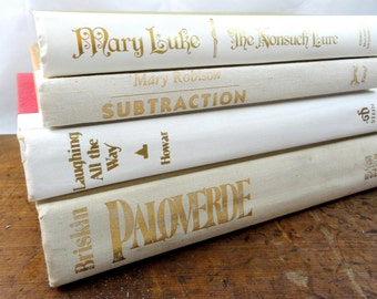 Vintage White Shabby Chic Book Collection