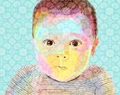 Custom Portrait - Meta Portrait - Illustrated Portrait - Childrens Portrait